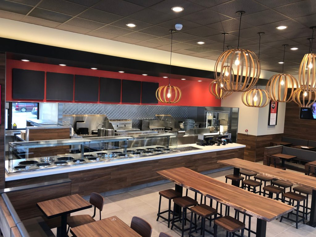 interior view of a Panda Express restaurant
